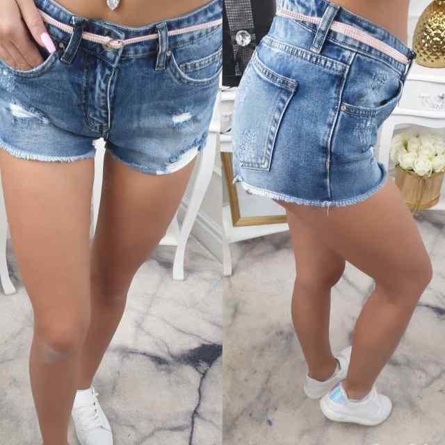 Stiilsed vööga lühikesed püksid