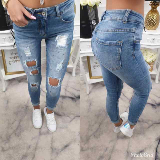 Stiilsed kristallidega teksapüksid