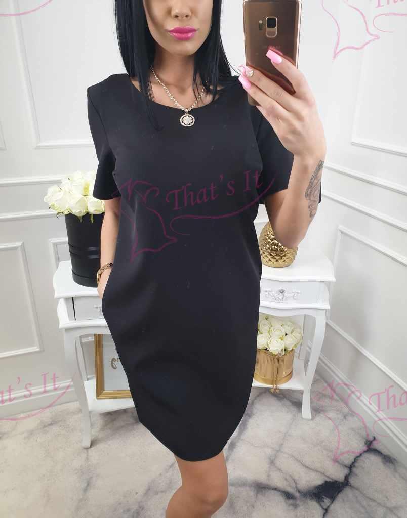Kvaliteetne sirgelõikeline kleit taskutega