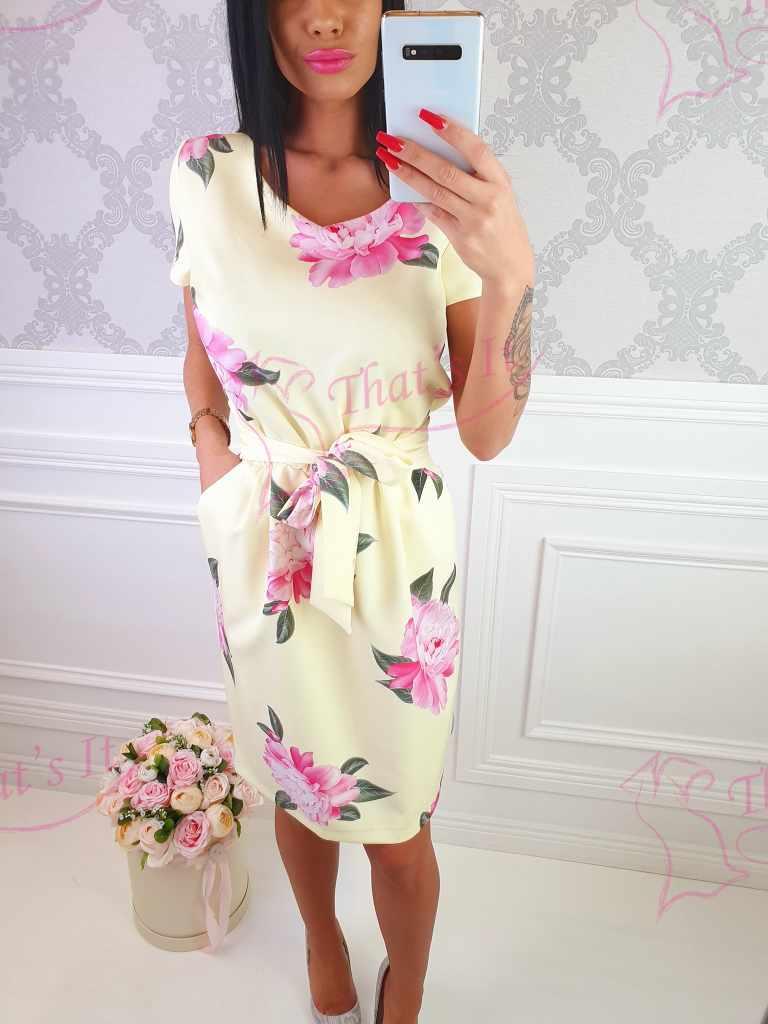 Naiselik vööga kleit