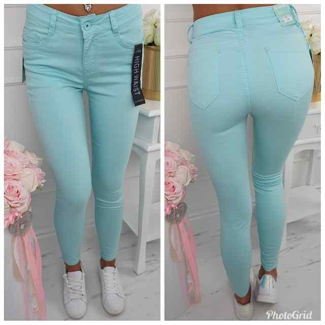 Strech mint tooni teksapüksid