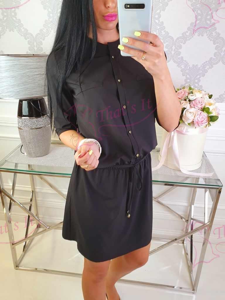Õhemast kangast naiselik kvaliteetne kleit keskelt kummiga
