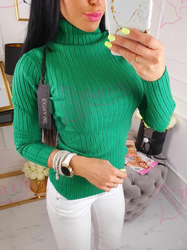 Kvaliteetne pehmest soonikkangast kõrge kaelusega sviiter