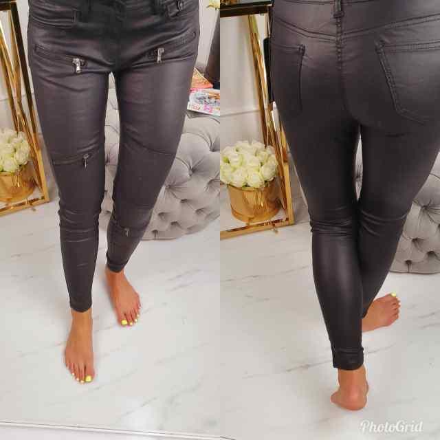 Lukkudega nahaimitatsiooniga püksid