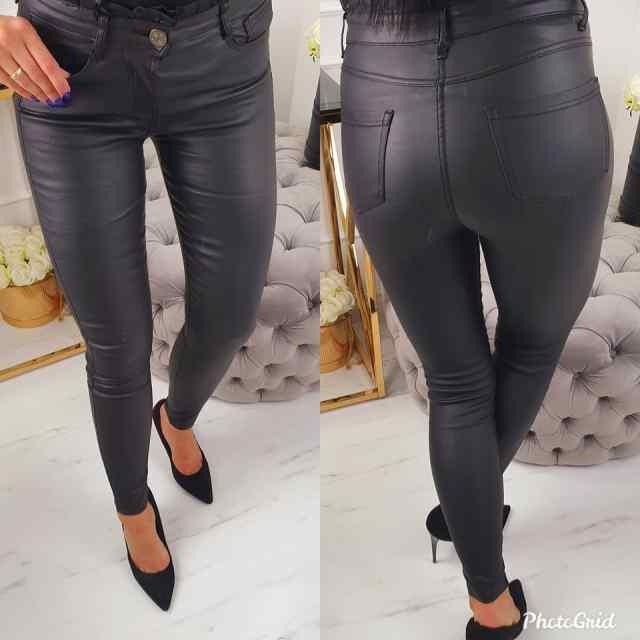 Super mugavad pihaosa vormivad ülevalt satsiga nahaimitatsiooniga püksid