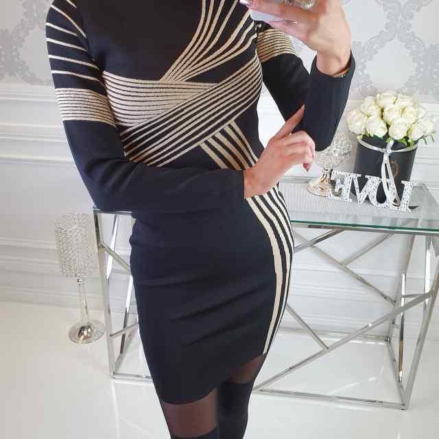 Kvaliteetne piduklik taljesse kleit kuldsete detailidega