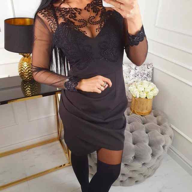 Kvaliteetne pidulik kleit pitsiga!
