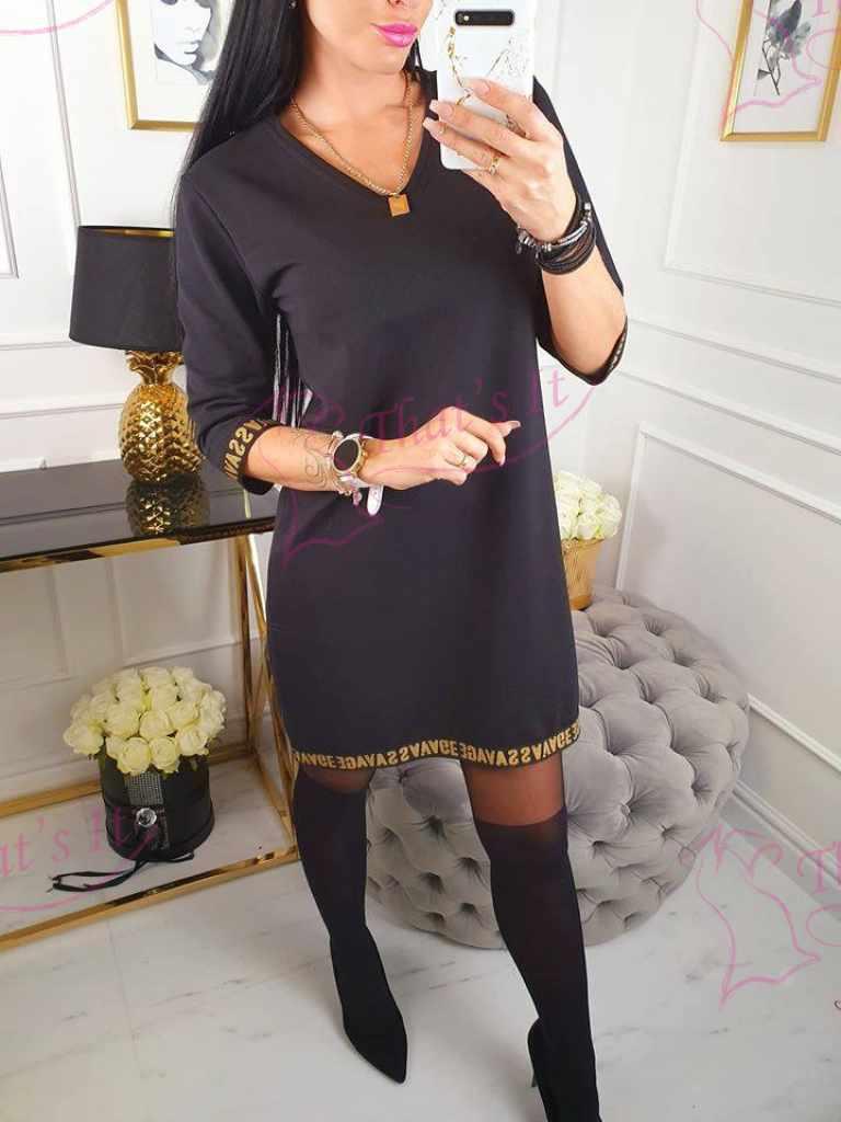 Vabama lõikega mugav kleit