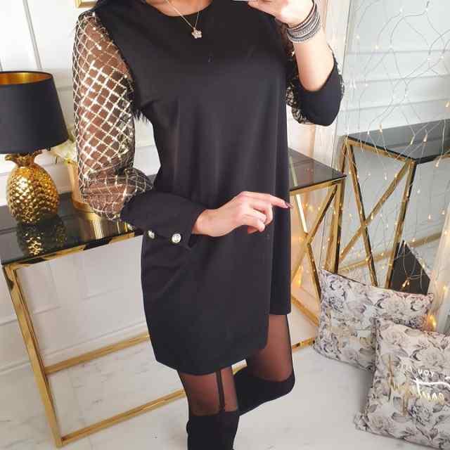 Armas sädeleva varrukatega tuunika/kleit