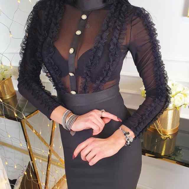 Vormivast kangast bandage kleit, rinna osa läbikumav