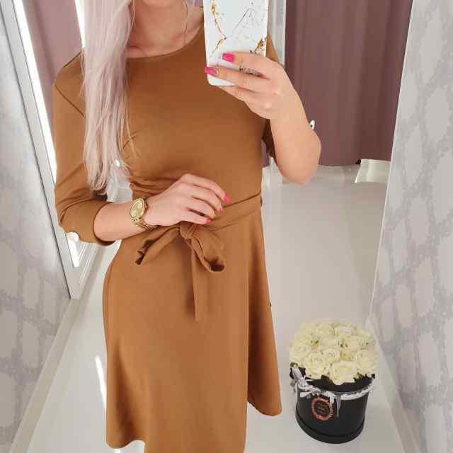 Keskelt paelaga reguleeritav skater stiilis kleit