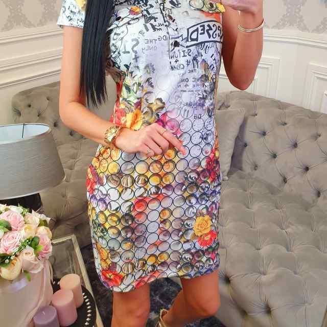Puuvillasest kangast eest nööpidega kleit