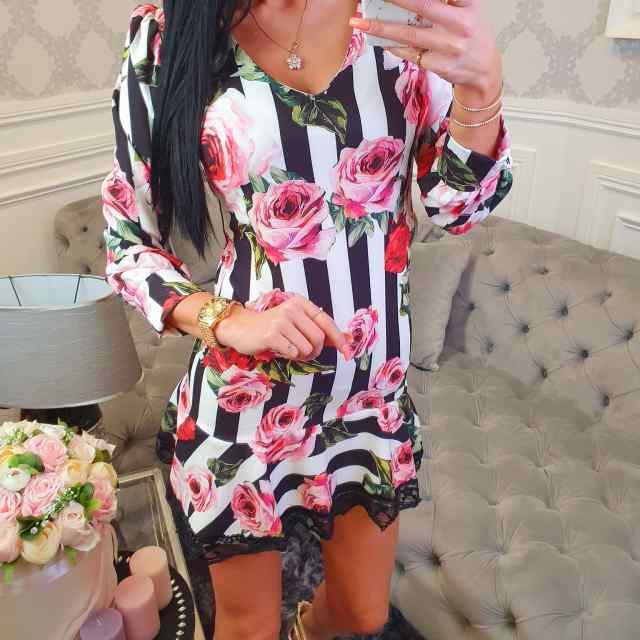Alt pitsiga kaunistatud õlakutega kleit