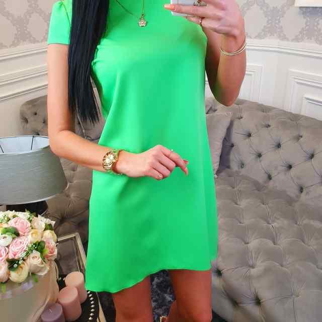 A-lõikeline lühikeste varrukatega kleit