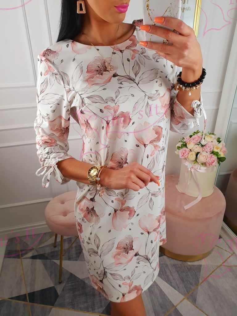 Sirge lõikega kleit, käiseb paelaga reguleeritavad
