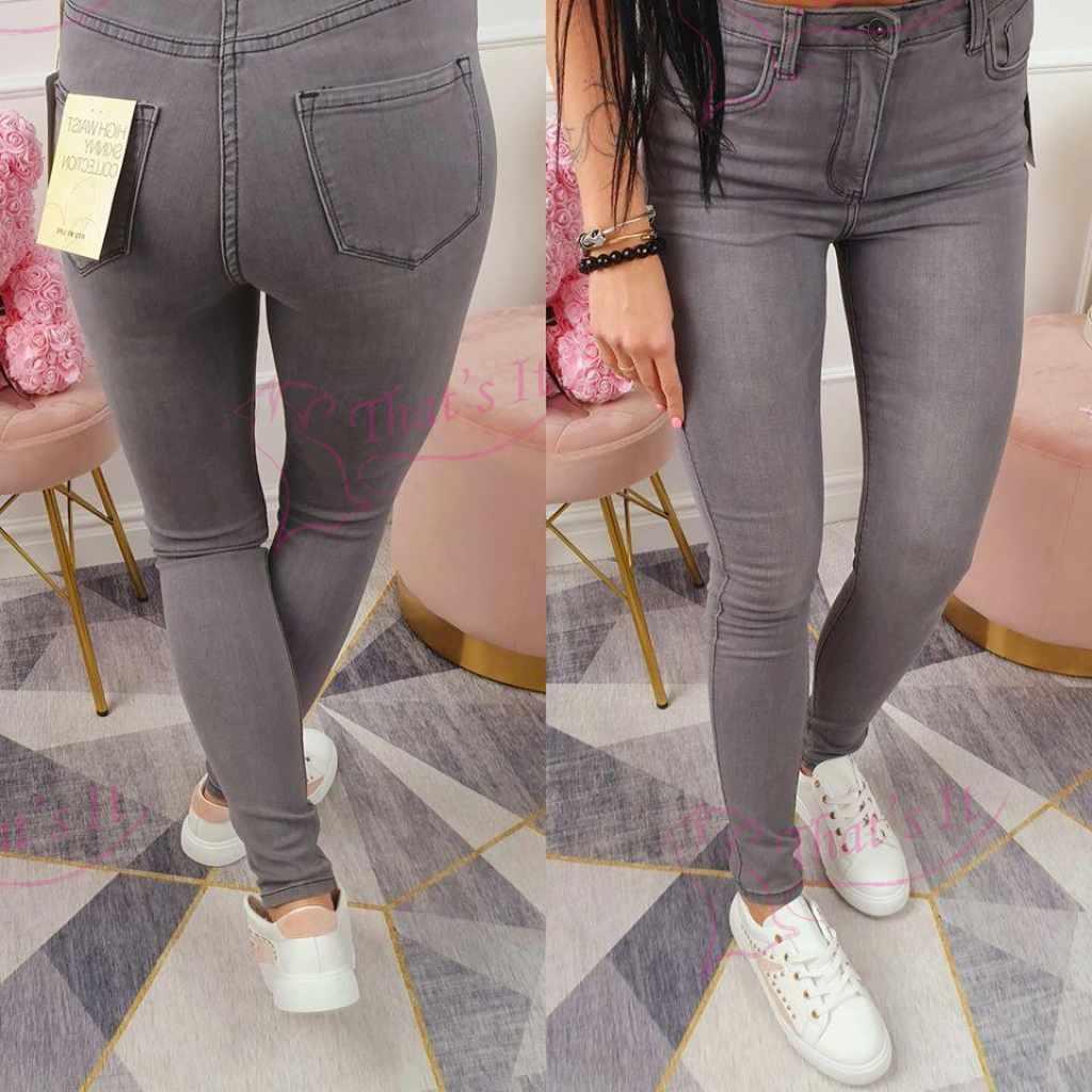 Kõrgema värvliga väga mugavad pehmest kangast teksapüksid