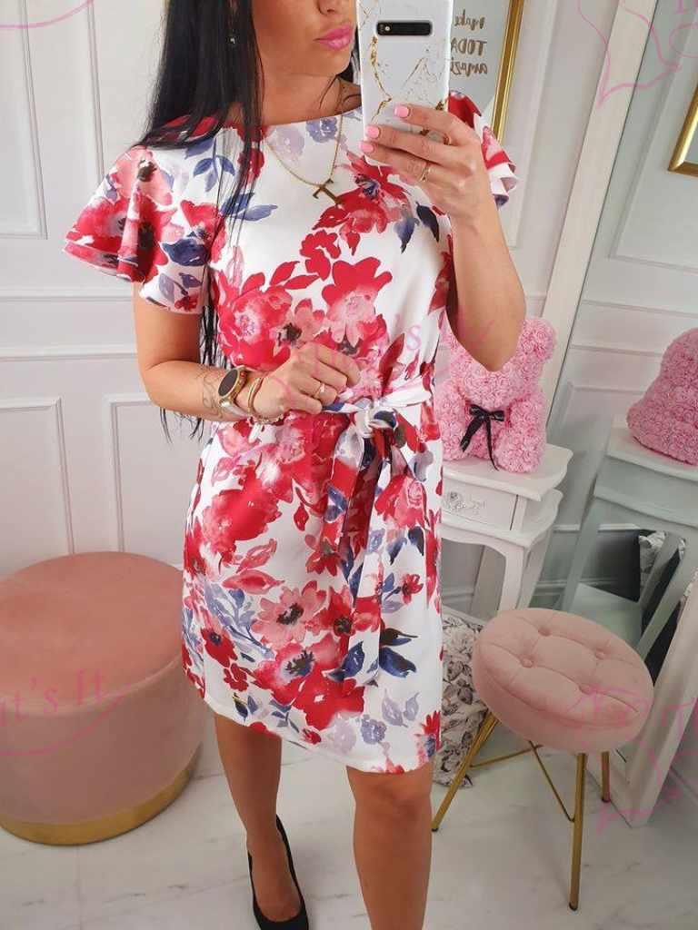 Keskelt paelaga reguleeritav kleit