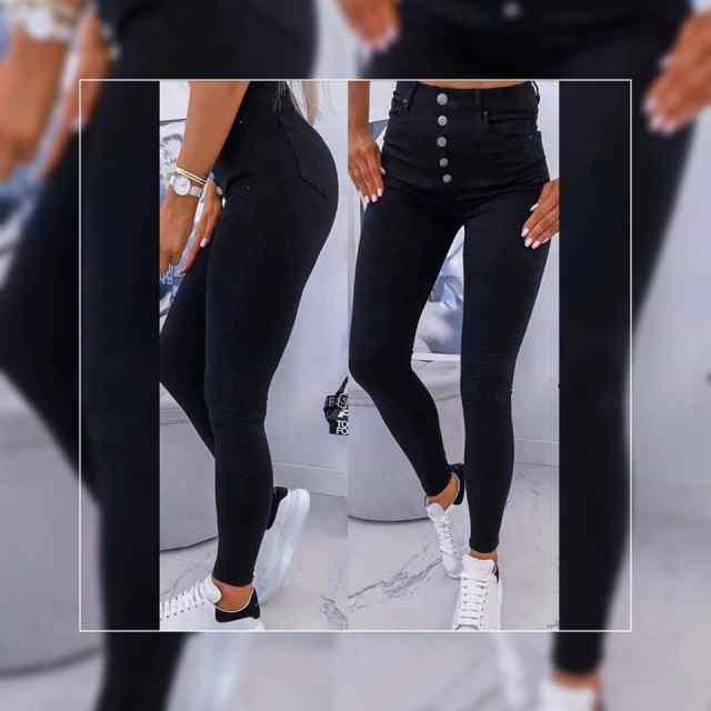 Mugavad stretchid eest nööpidega teksad