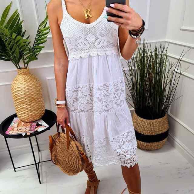 Pikem õhuline pitsiga kleit