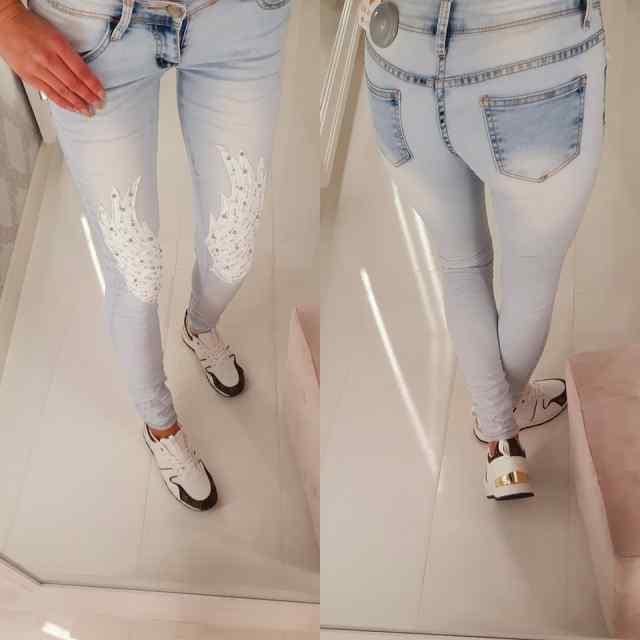 Madala värvliga teksapüksid