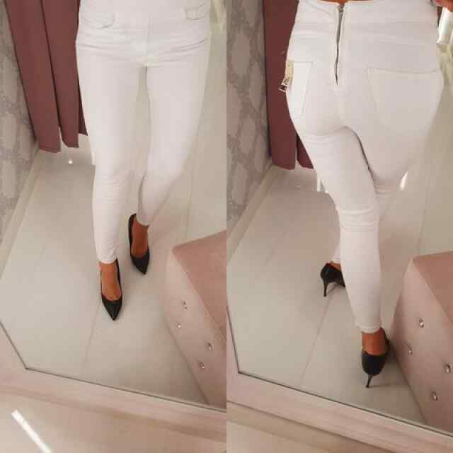 Klassikalised valged teksad, taga lukk