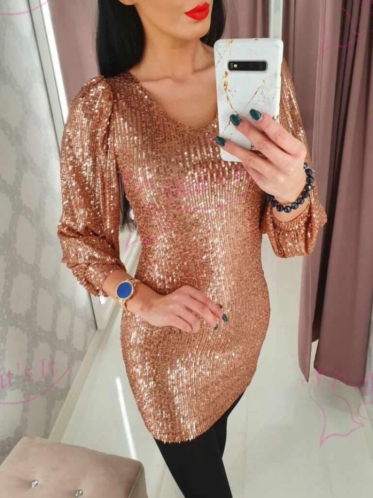 Kuldne glitterkleit