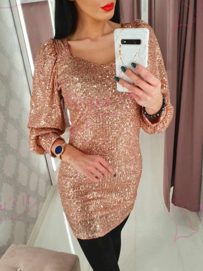 Rose gold glitterkleit