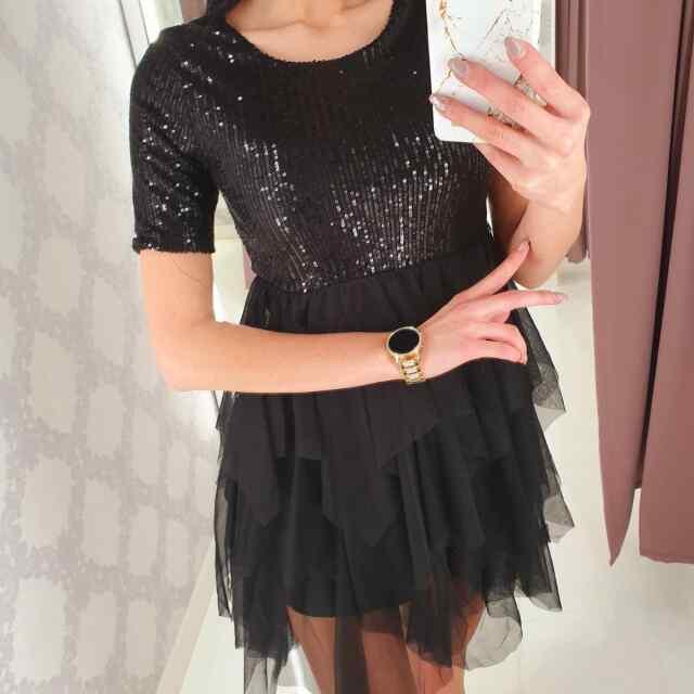 Armas tüllist seelikuosaga kleit, sobib lühemale