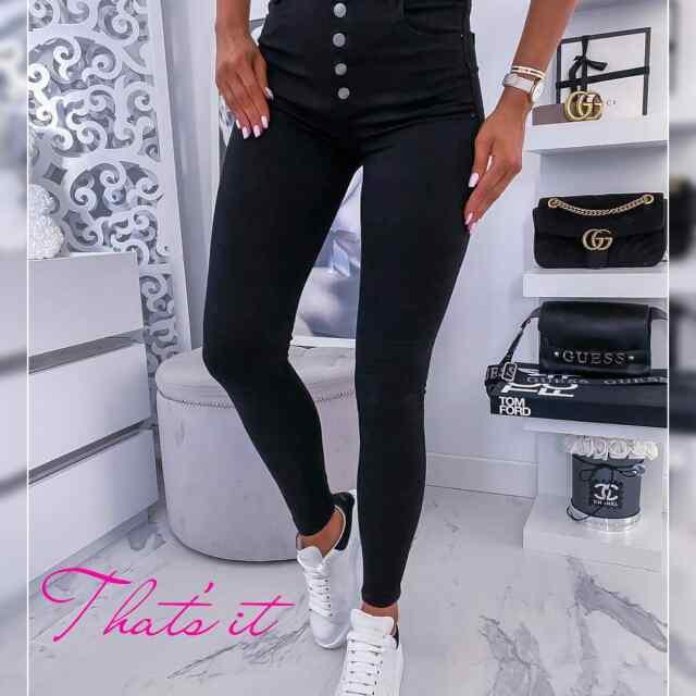 Kvaliteetsed strechid teksad mustade nööpidega