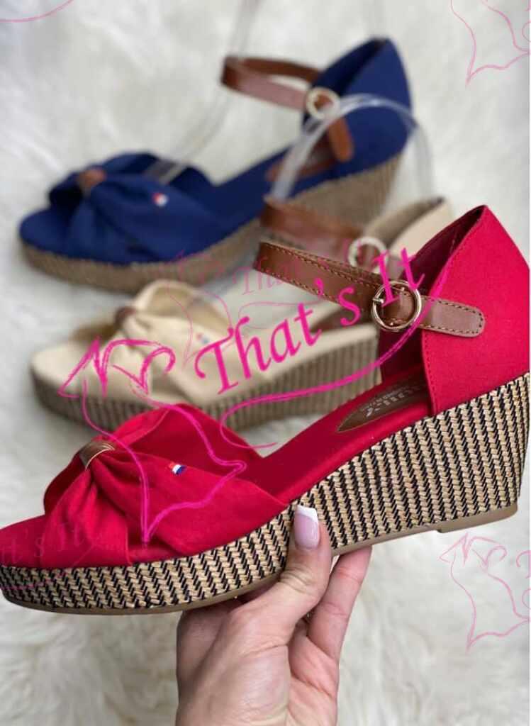 Suvised platvorm kingad - punane