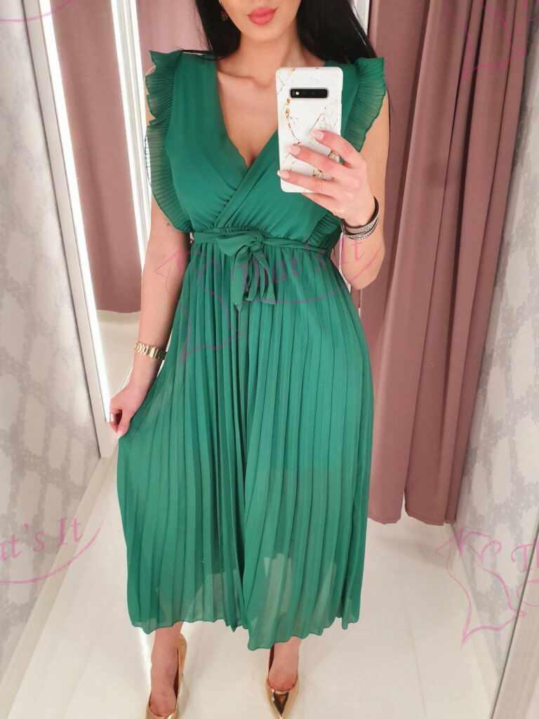Kvaliteetne pikem kleit, kesekelt paelaga seotav