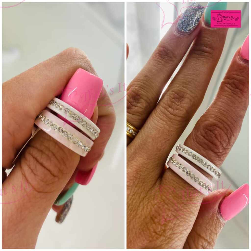 Keraamiline sõrmus valge