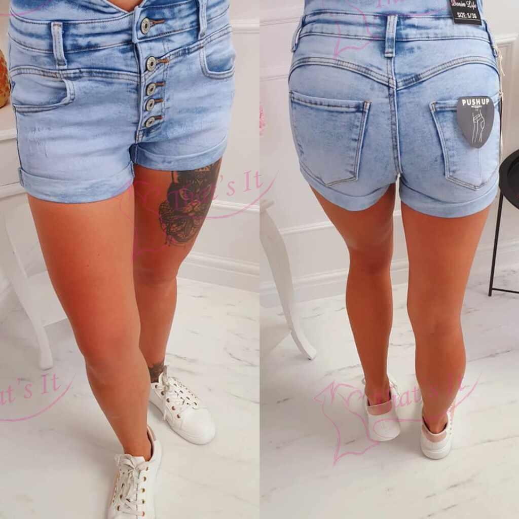 Väga mugavad kõrgema pihaga push up stiilis lühikesed püksid
