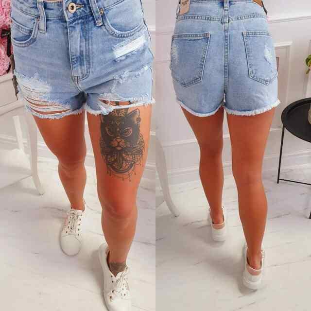 Eest lõhkised lühikesed püksid, ei ole venivast kangast