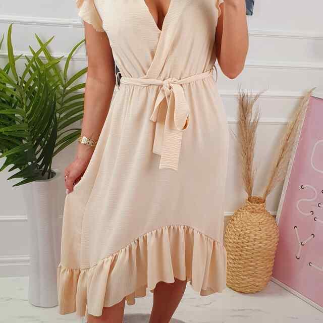 High-low stiilis paelaga reguleeritav naiselik kleit