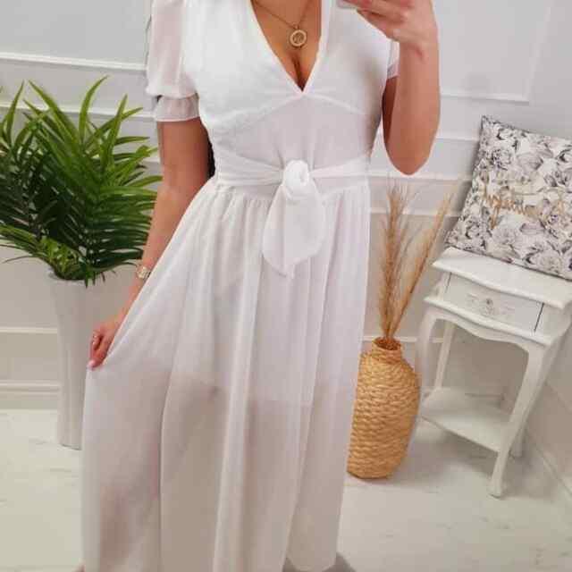Aluskangaga keskelt paelaga seotav kleit