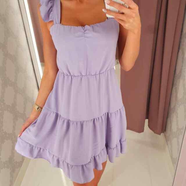 Super armas õlalt satsiga langev kleit