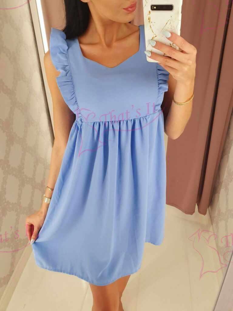 Külgedelt kummiosaga armas kleit