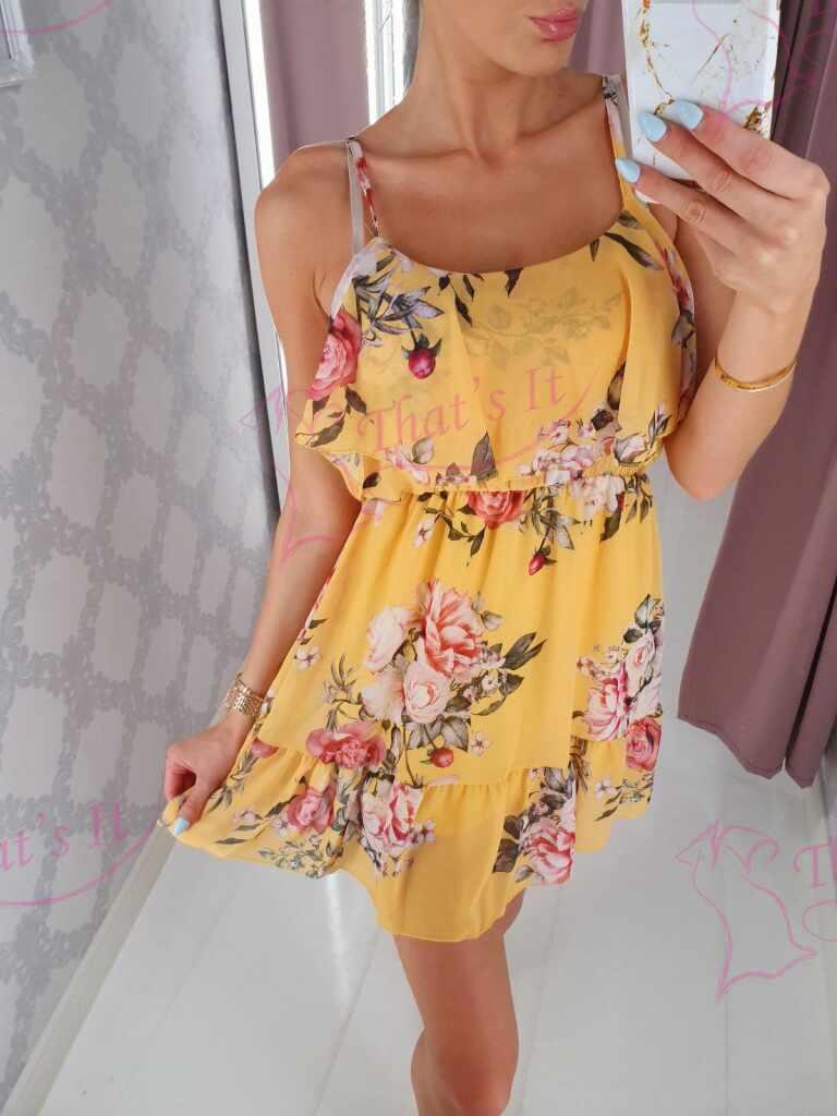 Satsidega lilleline kleit