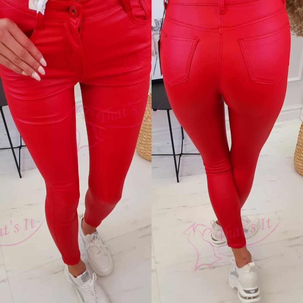 Punased nahksed püksid