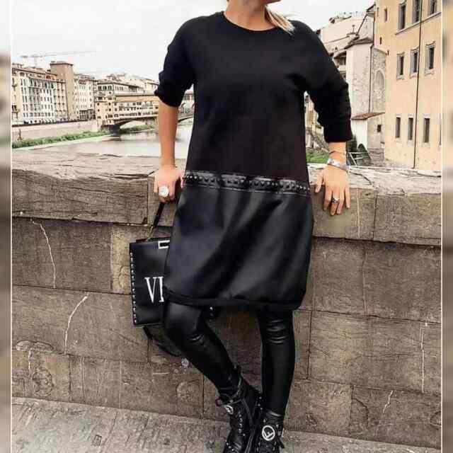 Langeva lõikega kleit/tuunika